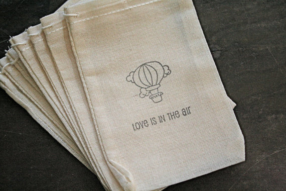 Wedding favor bags muslin 3x5 Set of 10 Bulk by craftyclementines