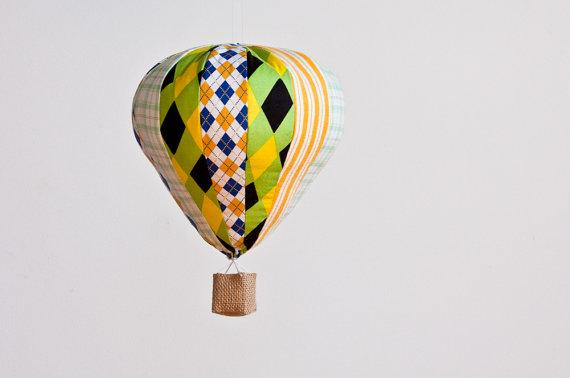 Hot Air Balloon Single by madeleinesargent on Etsy