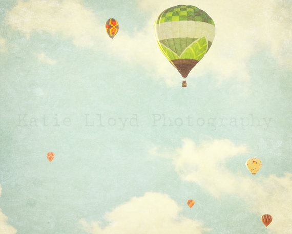 Whimsical Fine Art Photography Print 16x20 Hot Air by MommyMakes