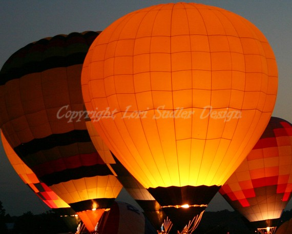 Hot Air Balloon Evening Glow 8x10 Fine Art by iShutter2Think