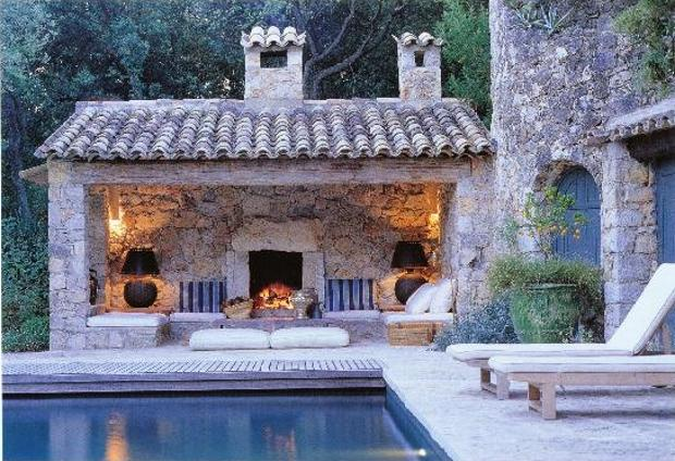 Fancy - Stone Cabana by Pool By Design