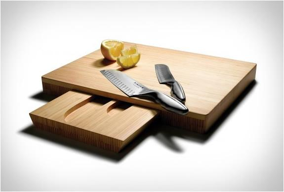 Fancy - Pinzon Santoku Knives & Cutting Board