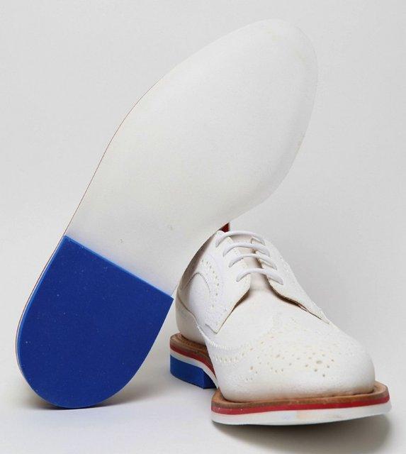 Fancy - Thom Browne White Wingtip Brogue