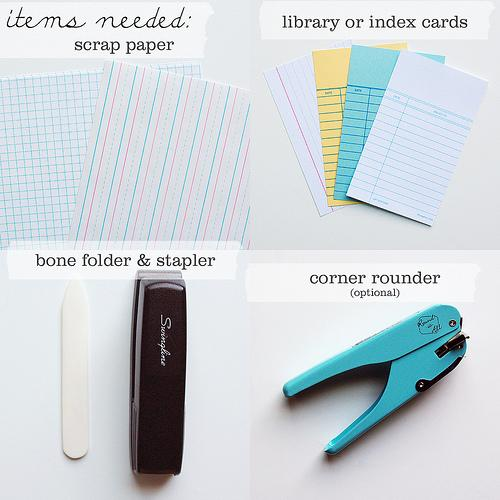How To: Little Library Card Notebooks « packagery