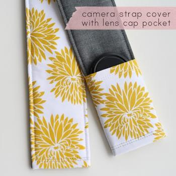 DIY / Camera Strap Tutorial... with little pocket for the lens cap.