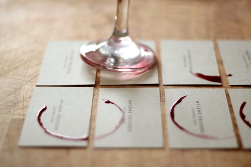Business Card / wine