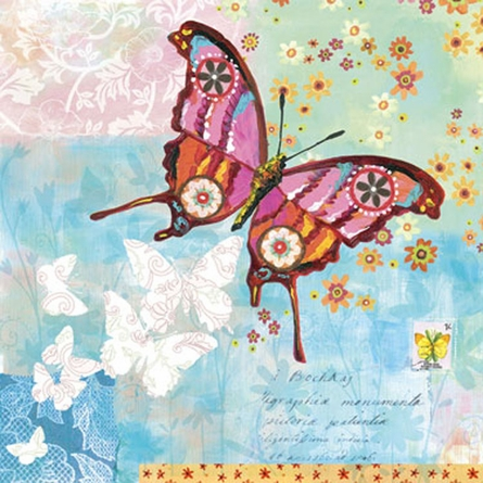 Fanciful Flight Blue Canvas Reproduction by Oopsy Daisy, Canvas Reproductions, Art for Girls