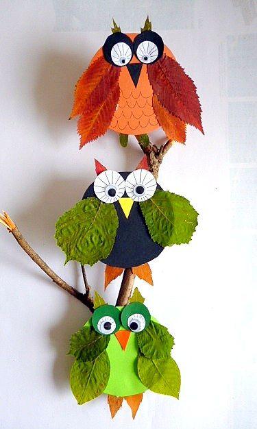 fall leaf owls | Crafts for kids | Pinterest