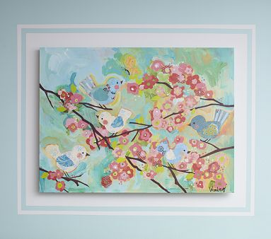 Cherry Blossom Art | Pottery Barn Kids