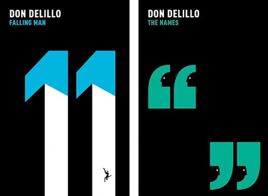 Designspiration — Creative Review - Don DeLillo covers by Noma Bar
