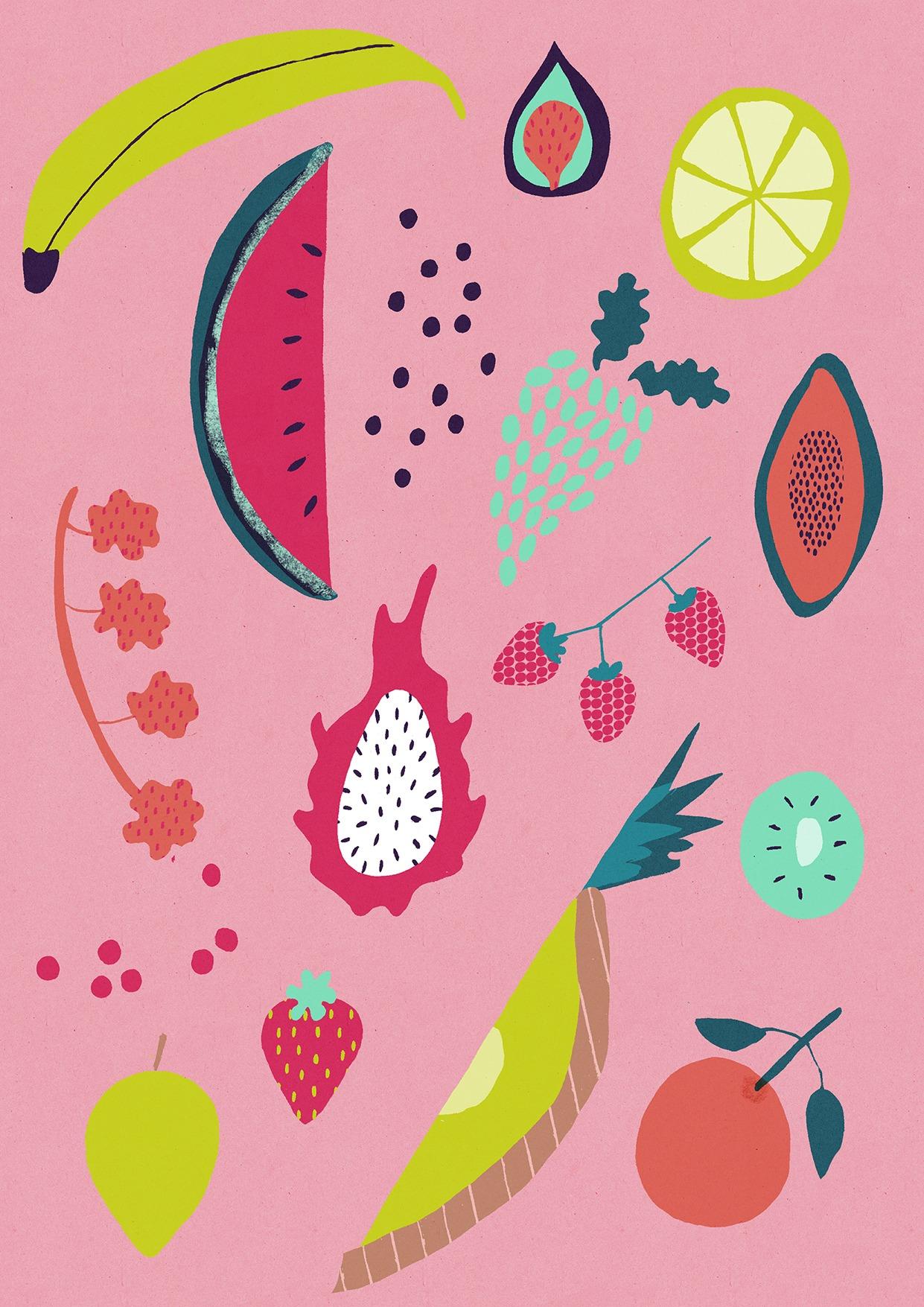 Naomi Wilkinson Illustration (fancy fruits)