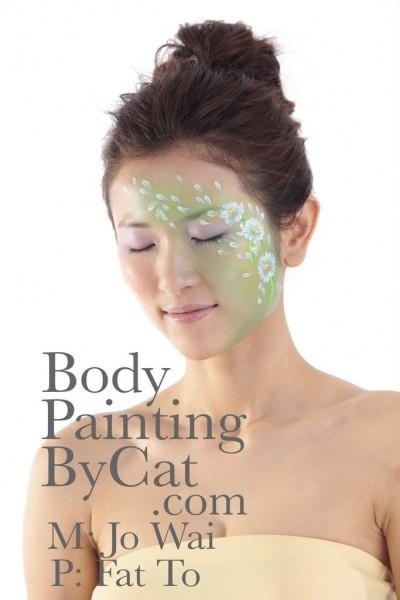 Body Painting by Cat » Spring Flower Face & Body Art – a year late!