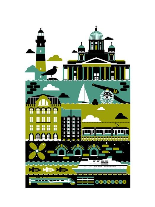 Artwork and Illustrations / helsinki by Xenia Bystrova