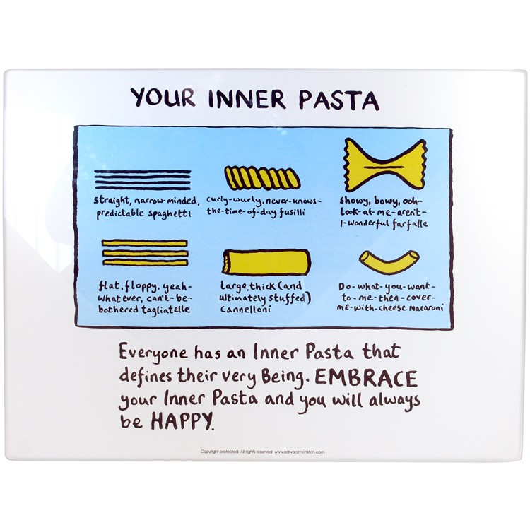 Inner Pasta Worktop Saver Edward Monkton By Brand