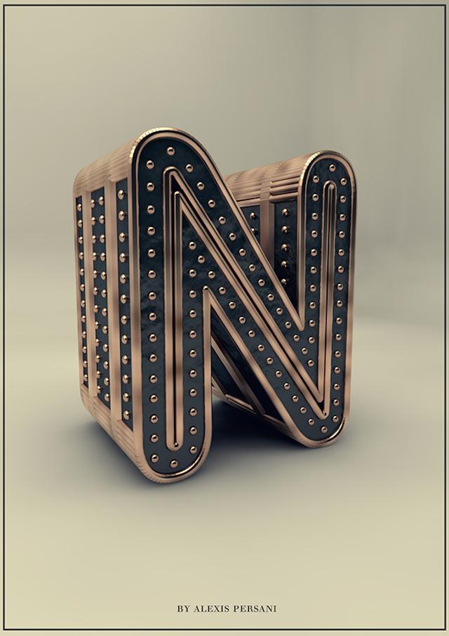 3D Creative Alphabet by Alexis Persani – Fubiz™