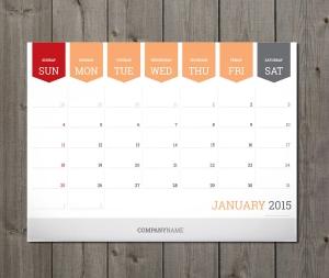 planning calendar template 2015