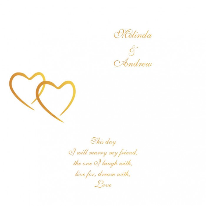 Metallic Sweethearts Square Vertical Invitation - Wedding Invitations