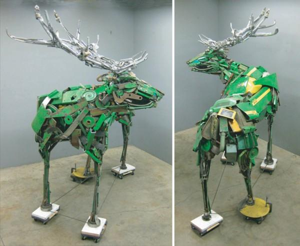 Scrap Metal Beasts by Robert Jefferson Travis Pond | Colossal