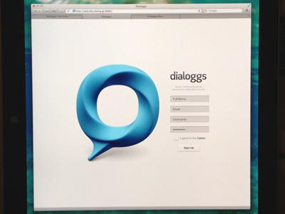 Dialoggs - Home Page by Drew Wilson