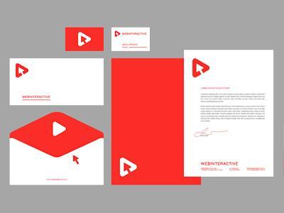 WEBINTERACTIVE stationery design by Jan Zabransky