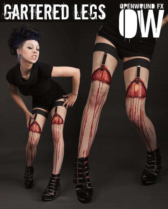 Bloody Gartered Legs Prosthetics | Incredible Things