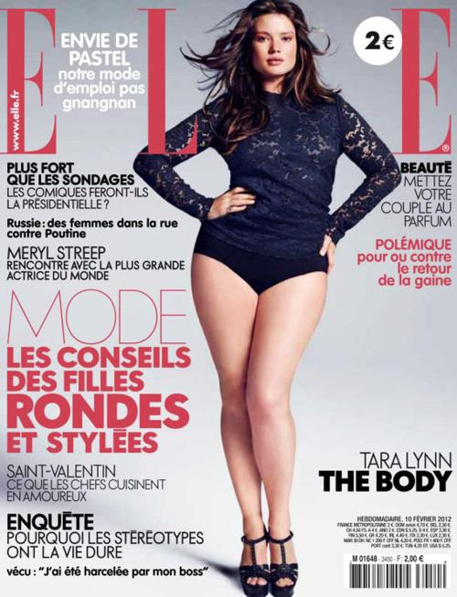 PLUS Model Magazine, Tara Lynn covets the cover of French Elle Feb 2012...