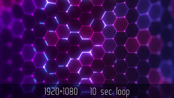 Motion Graphics - Hex Pattern Colourful Wave - Abstract VJ | VideoHive