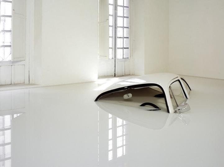 VW Bug Sunk in Milk - My Modern Metropolis