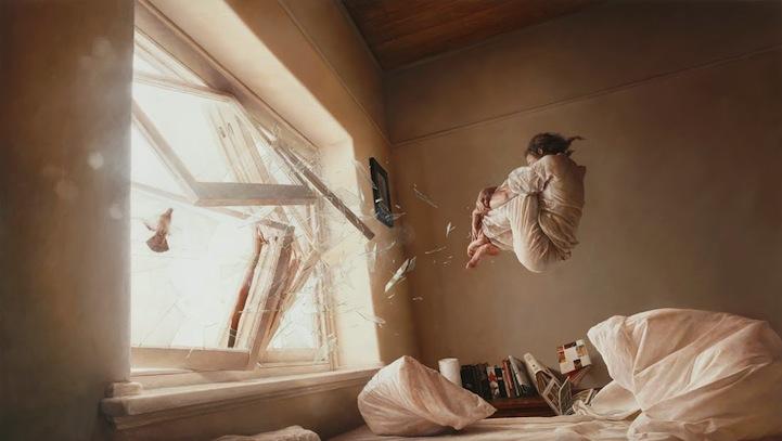 New Surreal Hyper-realistic Painting - My Modern Metropolis