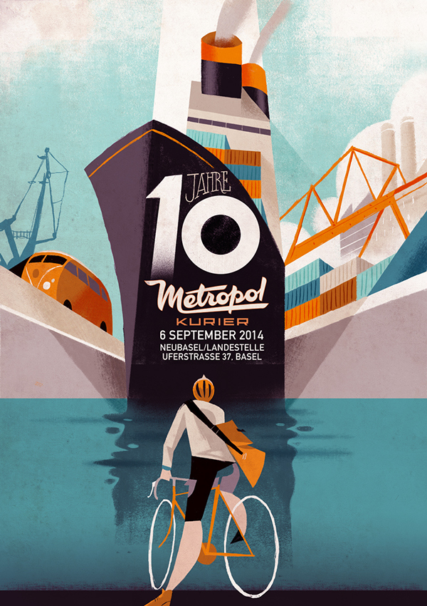 Illustration / Metropol Kurier by Riccardo Guasco on Behance