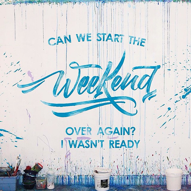 Weekend Typography on Inspirationde