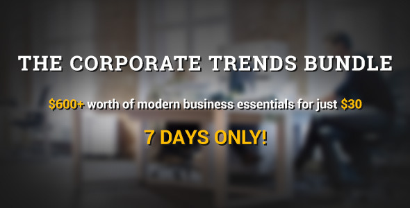 Marketing - The Corporate Trends Bundle is here for 1 week only! | ThemeForest