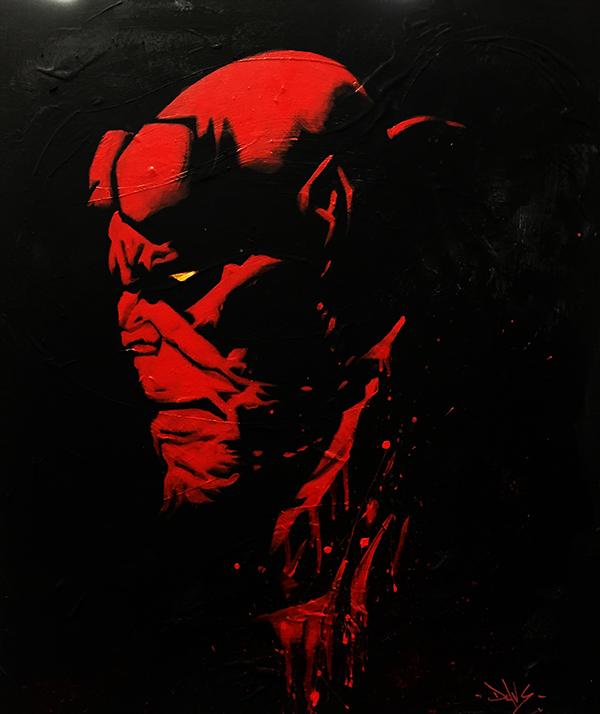Hellboy Marvel Peinture on