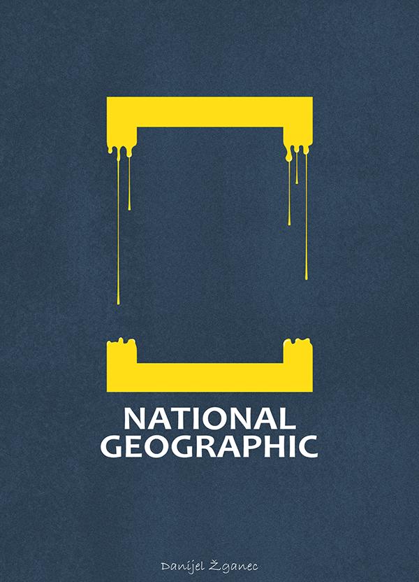 National Geographic Logo Illustration by Danijel Žganec on Inspirationde