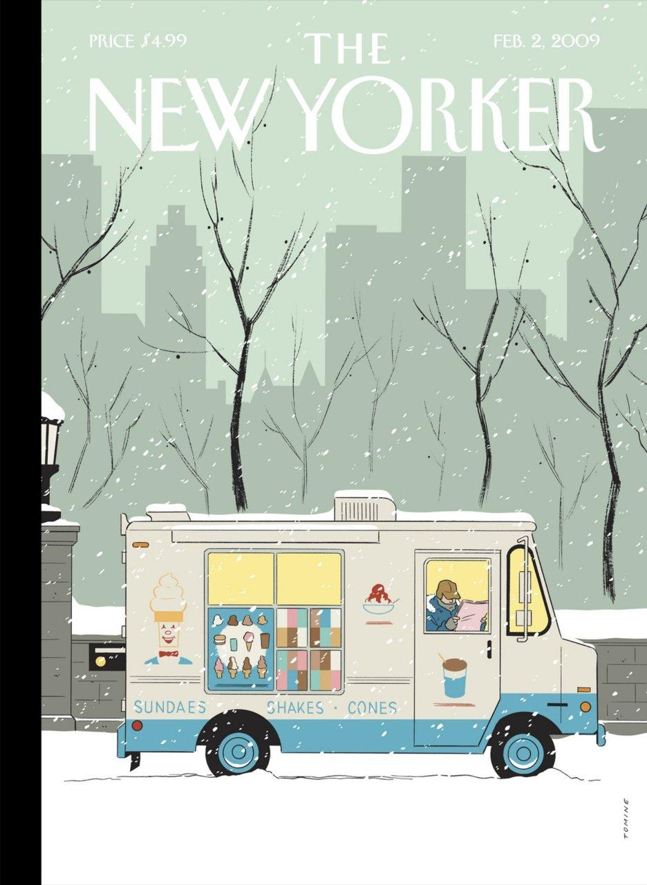 Snowce illustration for The New Yorker by Adrian Tomine