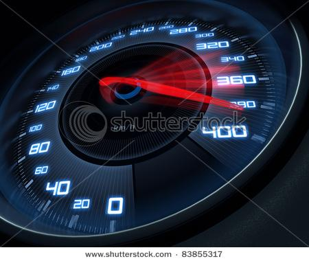 Speedometer Scoring High Speed In A Fast Motion Blur. Stock Photo 83855317 : Shutterstock