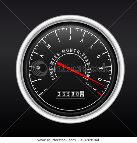 New Year Speedometer On Black Stock Vector 63701044 : Shutterstock