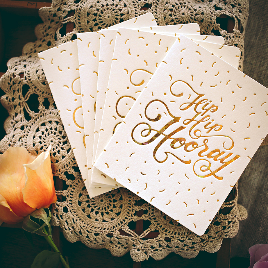 Bespoke Letterpress – Greeting Cards on