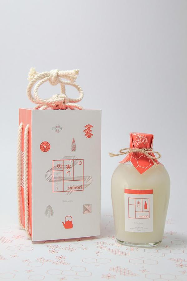 Japan / Japanese Minori Sake packaging design