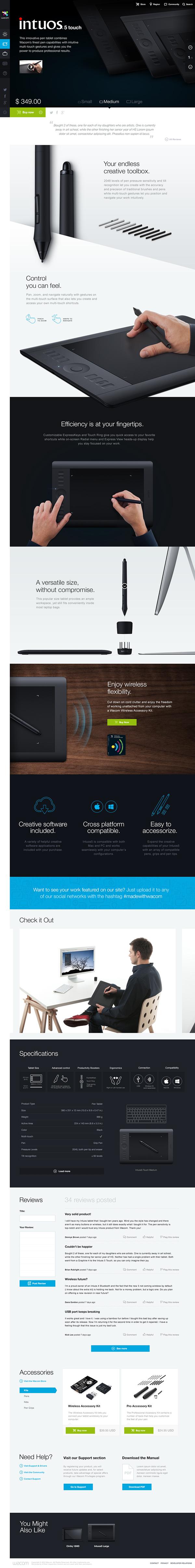 Wacom.com Re-Design on