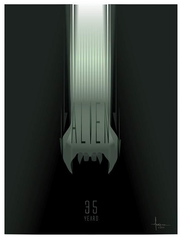 ALIEN 35 Vector Poster Tribute | Abduzeedo Design Inspiration