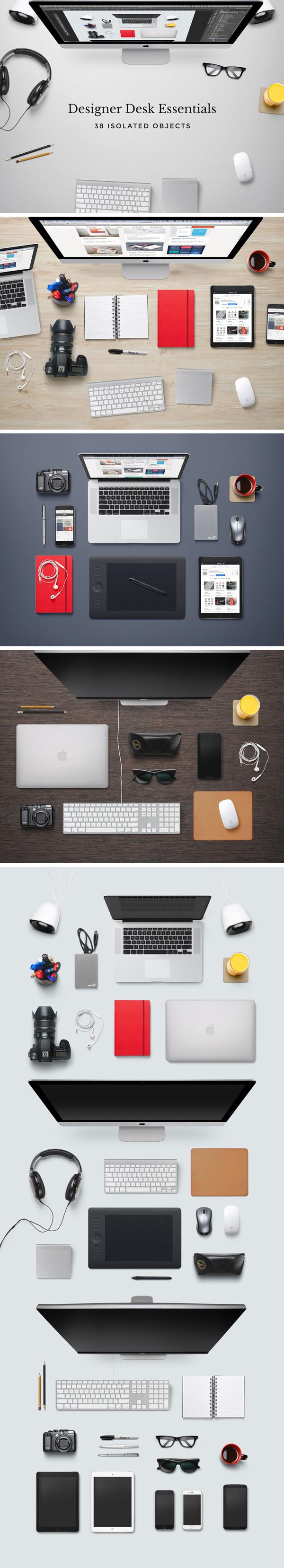 Designer Desk Essentials   GraphicBurger