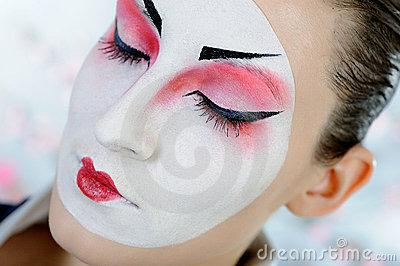 Royalty Free Stock Photo: Japan geisha woman with creative make-up