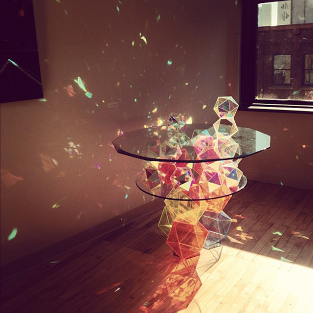Sparkle Geometric Table by John Foster on Inspirationde