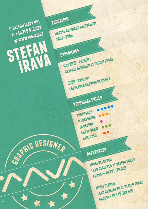 30 Amazingly Creative Examples of Designer Resumes | inspirationfeed.com