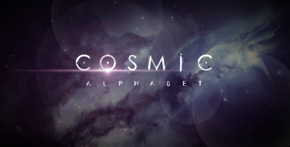 After Effects Project Files – Cosmic Alphabet on Inspirationde