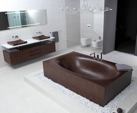 Alegna — Laguna Basic, wooden bathtub for small rooms