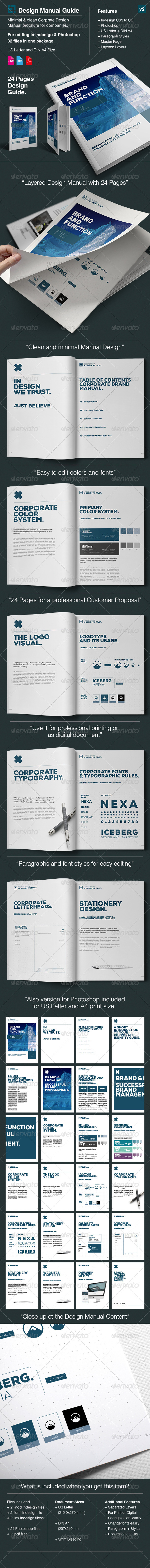 Elite Corporate Design Manual Guide - 24 Pages | GraphicRiver