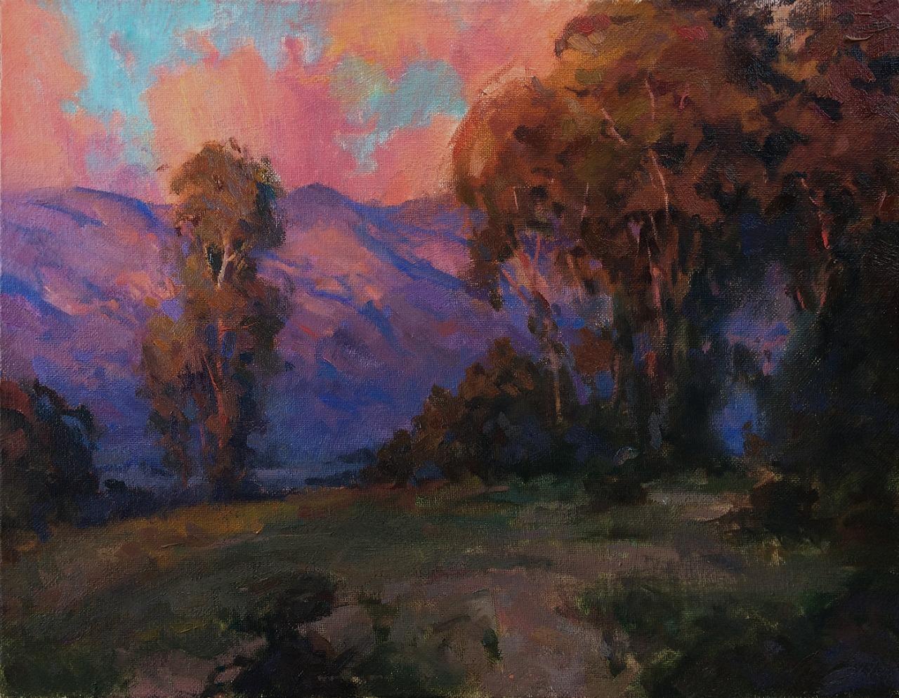 Pavel Sokov • An oil landscape master study after Jesse Powell.