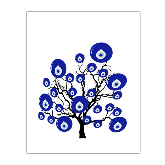 evil eye bead wall art tree turkish decor turkish evil by gonulk